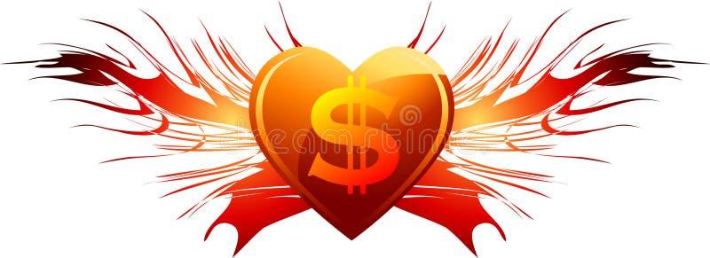 Download Love of dollars sign stock illustration. Illustration of background - 22795554