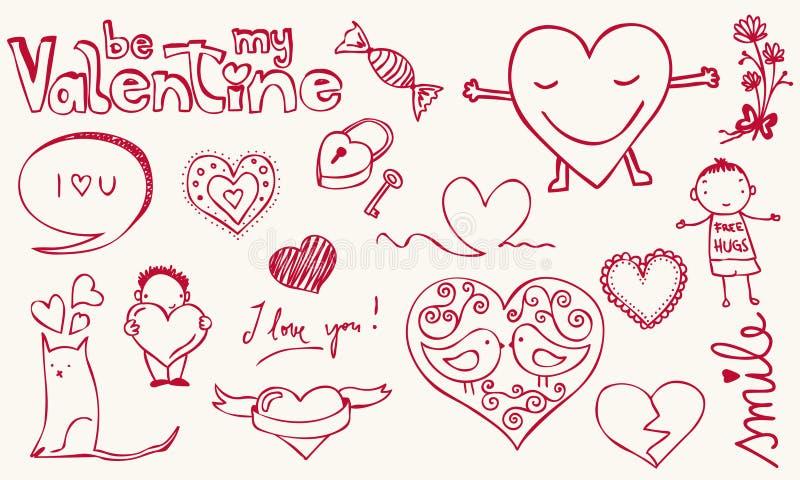 Download Love doodle stock vector. Image of speech, lock, cute - 22958661