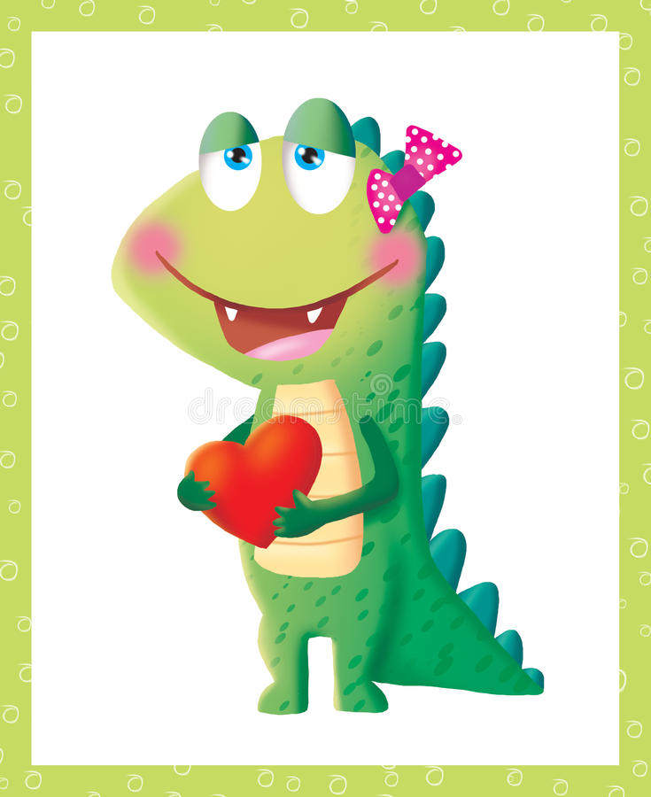 An in love dragon stock images