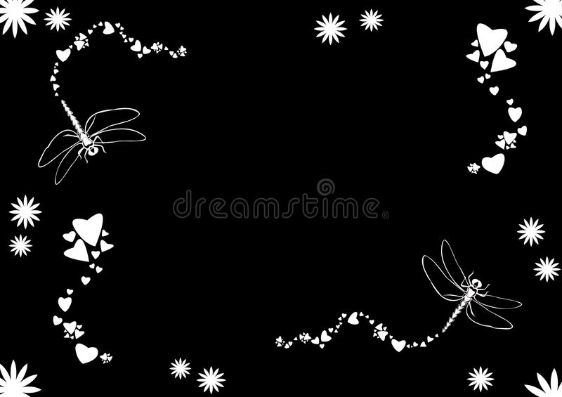 Love Dragonflies royalty free illustration