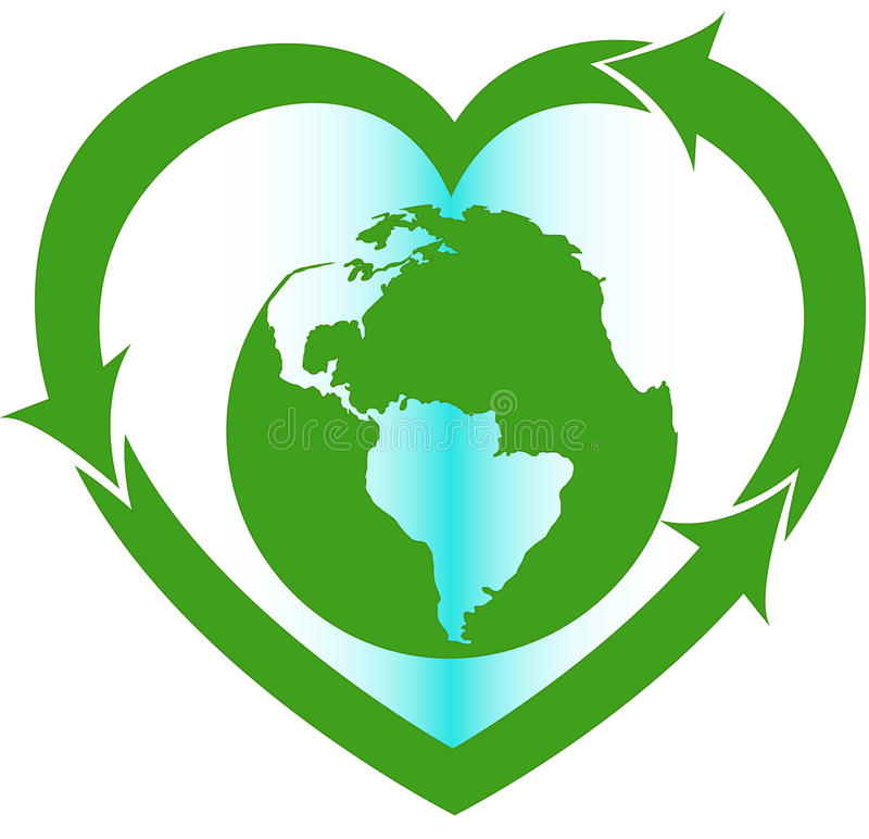Love Earth Eco Oriented Sign Stock Image - Image of earth ...