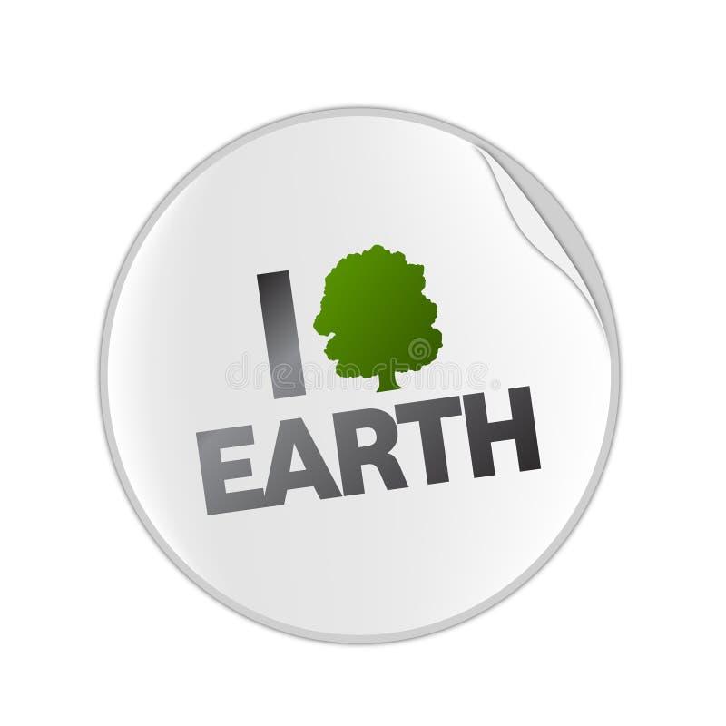 Love Earth  Sticket Stock Photo