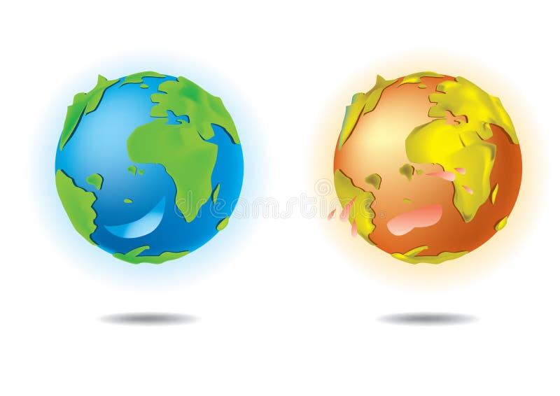 Love Earth vector illustration