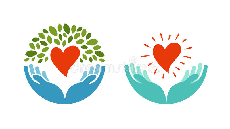 Love, ecology, environment icon. Health, medicine or oncology symbol. On white background stock illustration