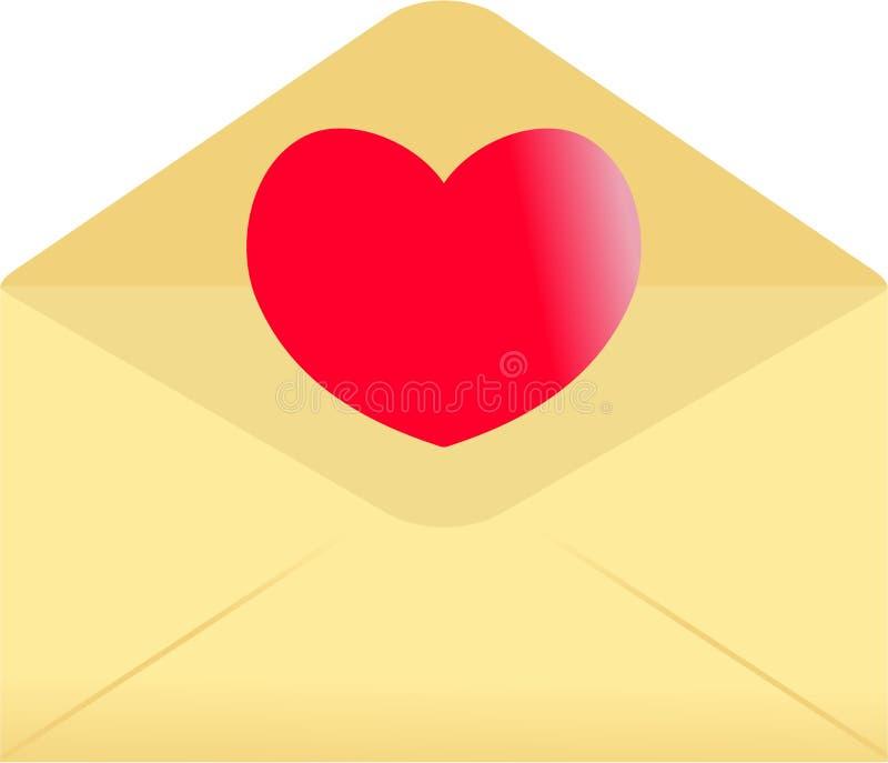 Love Envelope Stock Photos