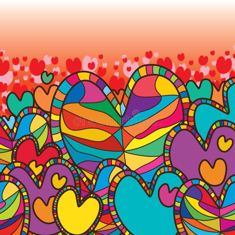 Love family top stock illustration