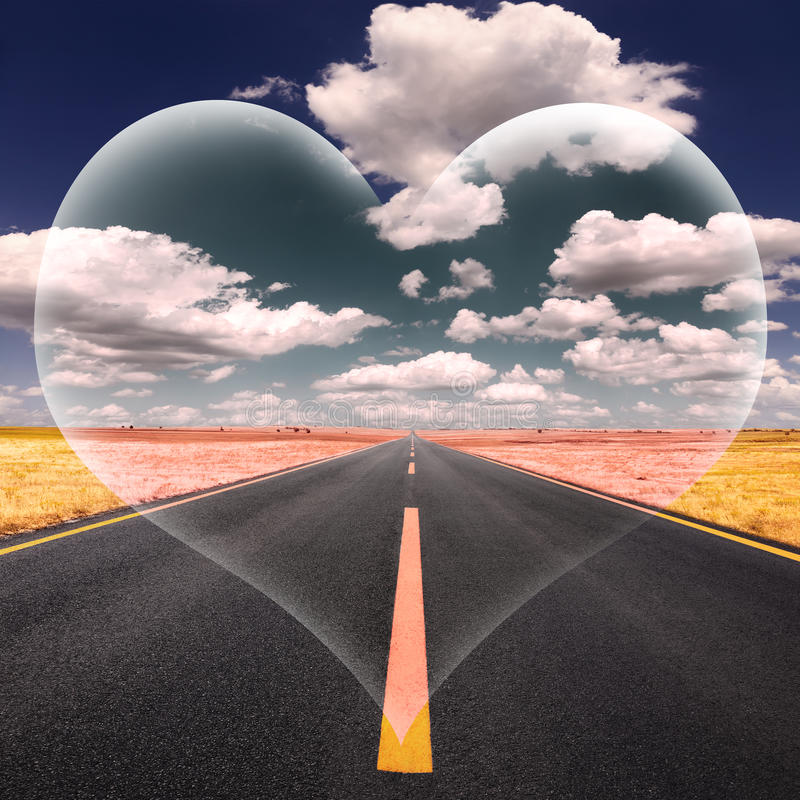 Free Love Fantasy On The Open Road At A Beautiful Sunny Day Royalty Free Stock Photo - 35901555
