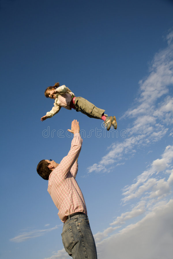 Download Love Of Father And Child And Sky Stock Photo - Image: 9070220