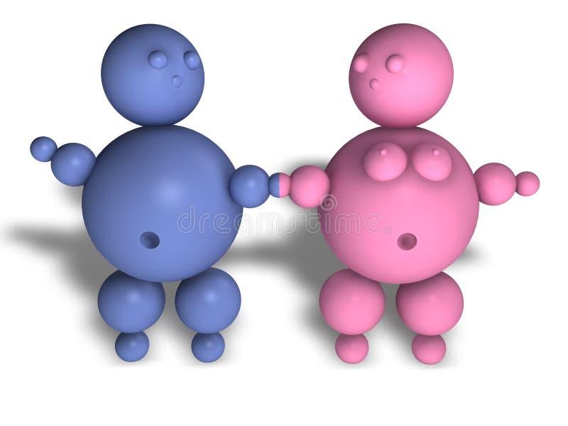 Download Love feeling puppet stock illustration. Illustration of blue - 2605422