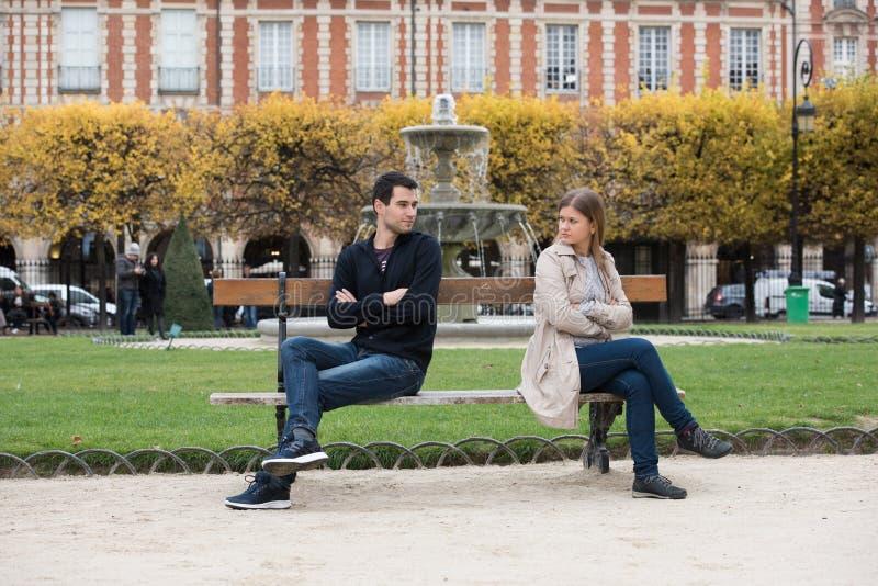 Love fight in Paris stock images