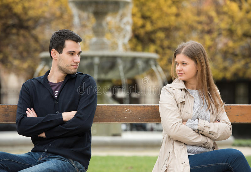 Love fight in Paris royalty free stock images