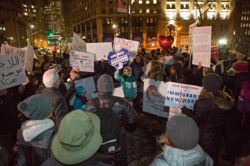 Love Fights Back. Rally for immigrants NYC. Tuesday 2/14/2017 Foley Square New York City