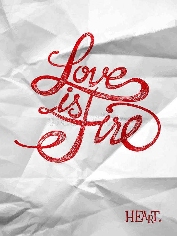 Love is a fire royalty free illustration