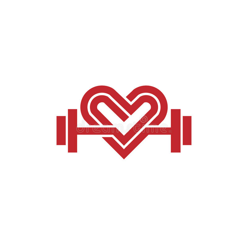Love fit logo vector stock illustration