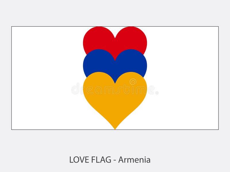 Love flag Armenia stock illustration