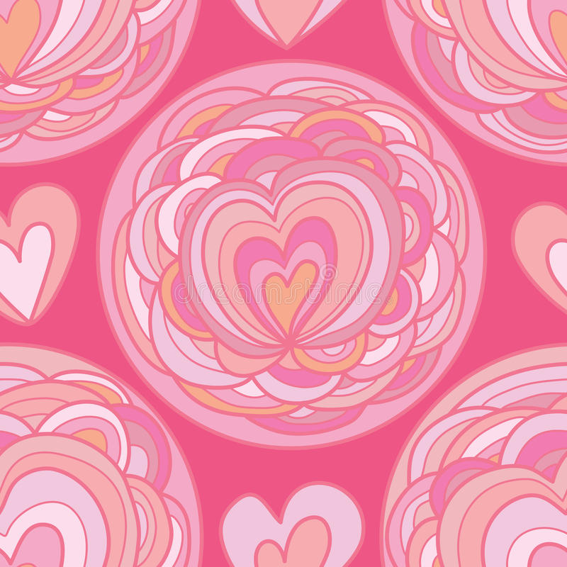 Love flower circle seamless pattern royalty free illustration