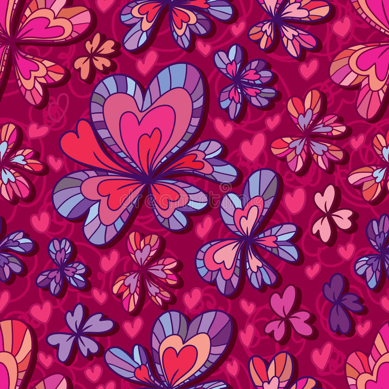 Love flower decor seamless pattern stock illustration