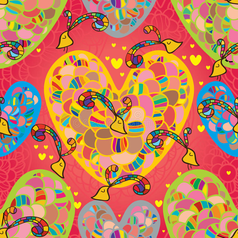 Love flower seamless pattern stock illustration