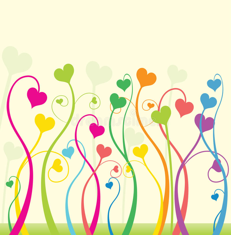 Download Love flowers stock vector. Image of background, graphic - 13483755