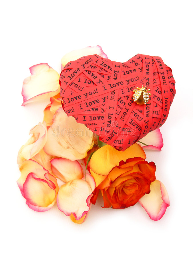 Love and flowers royalty free stock photos