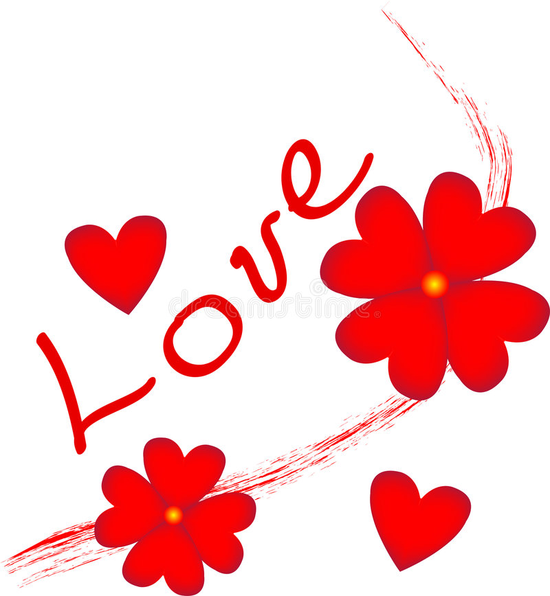 Love flowers royalty free stock photo