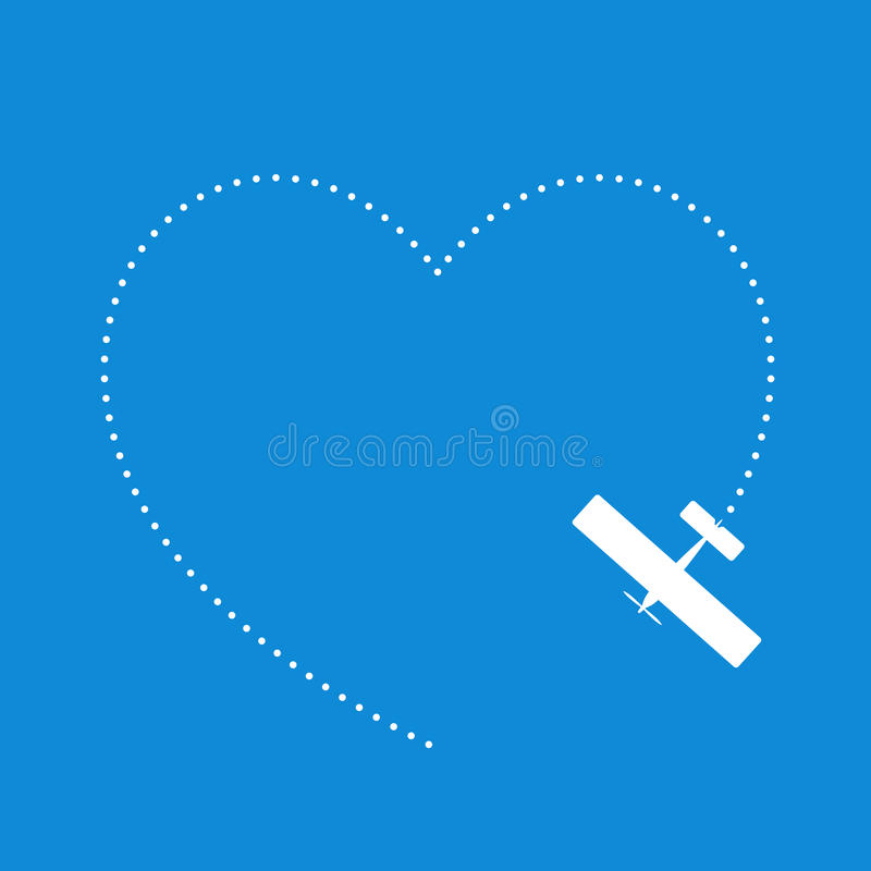 Download Love Flying stock vector. Image of flying, symbol, aircraft - 18576486