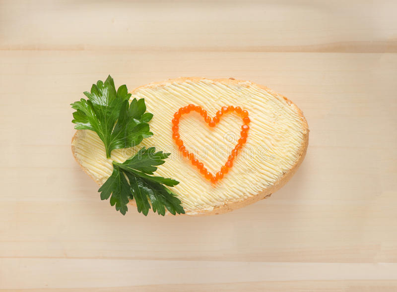 Love and food stock photography