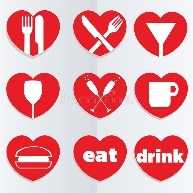 Download Love food icons stock vector. Illustration of design - 23098979