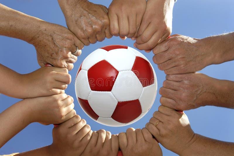 We love football royalty free stock image