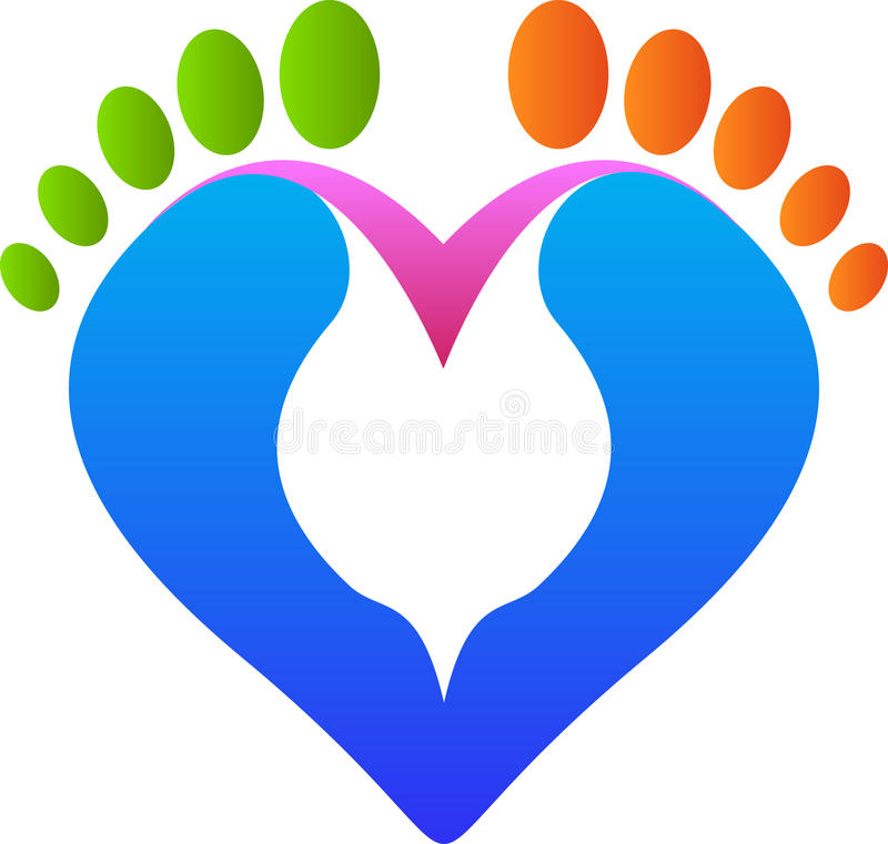 Download Love footprint stock vector. Image of care, individual - 33109125