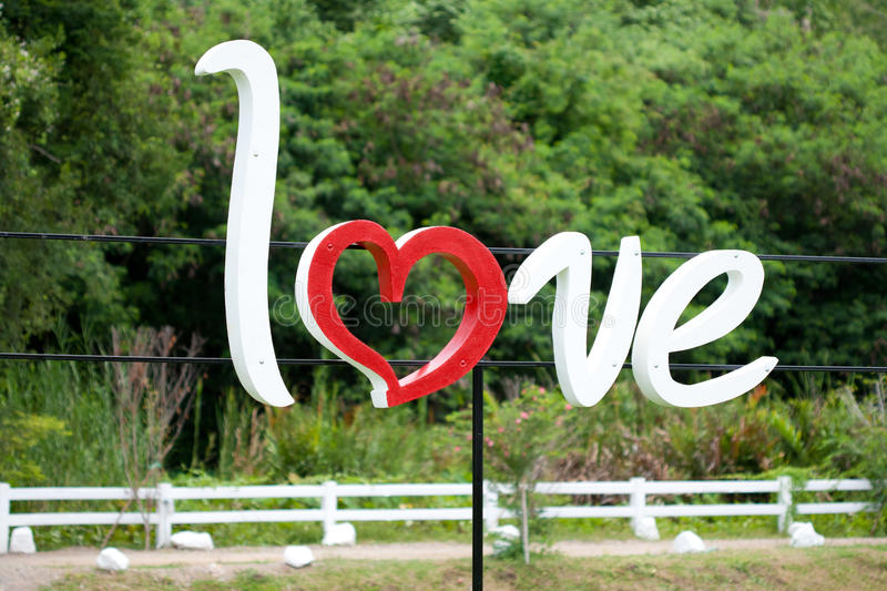 Love with forest background royalty free stock photos