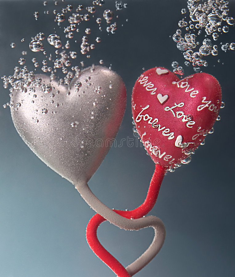 Download Love Forever Between Two Hearts Stock Image - Image: 8347121