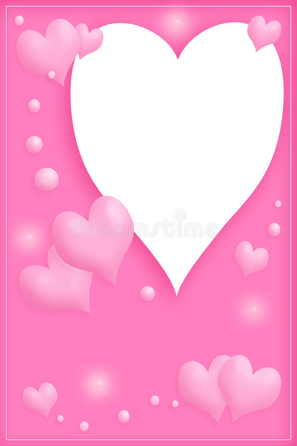 Love frame in pink royalty free stock photos