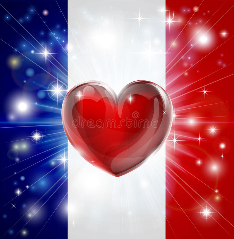 Download Love France Flag Heart Background Stock Vector - Image: 28673779