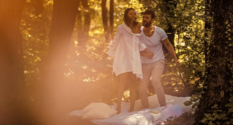 Love is always fun and beautiful stock images