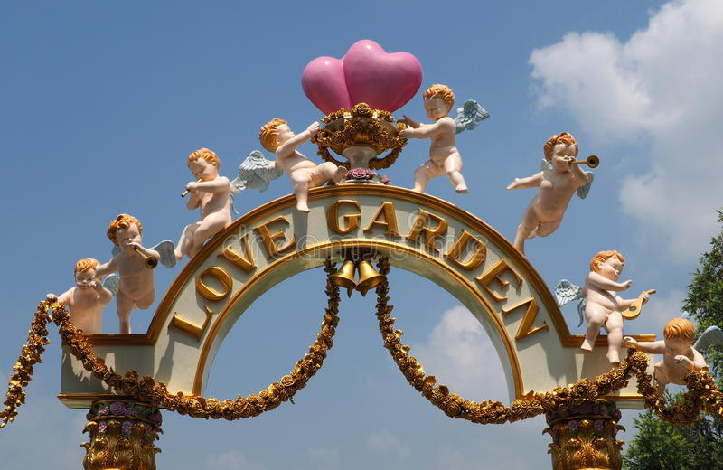 The love garden, one of many themes at Dream World royalty free stock photos