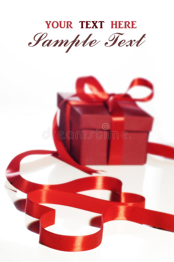 Love and gift royalty free stock photography