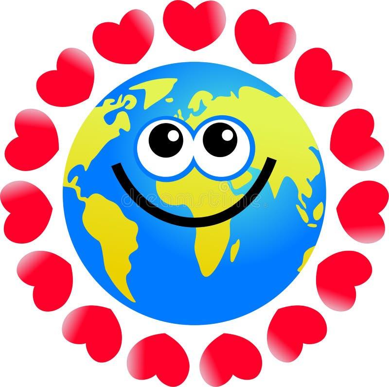 Love globe vector illustration