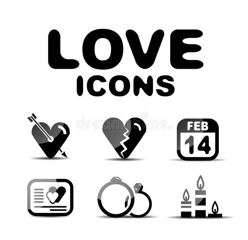 Download Love Glossy Icon Set. Vector Illustration Stock Vector - Illustration of baby, couple: 31187424