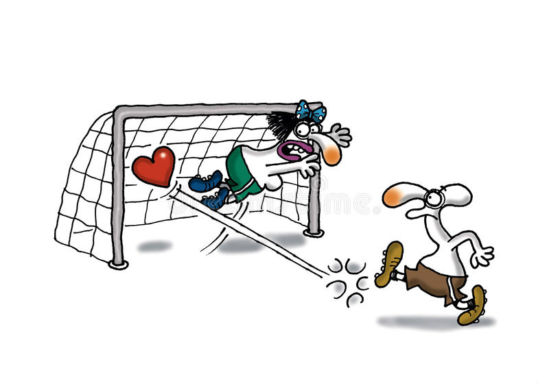 Download Love Goal stock illustration. Image of girl, keeper, pitch - 21215642