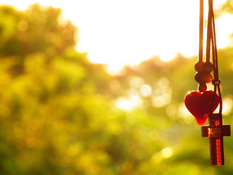 The love on the cross royalty free stock photo
