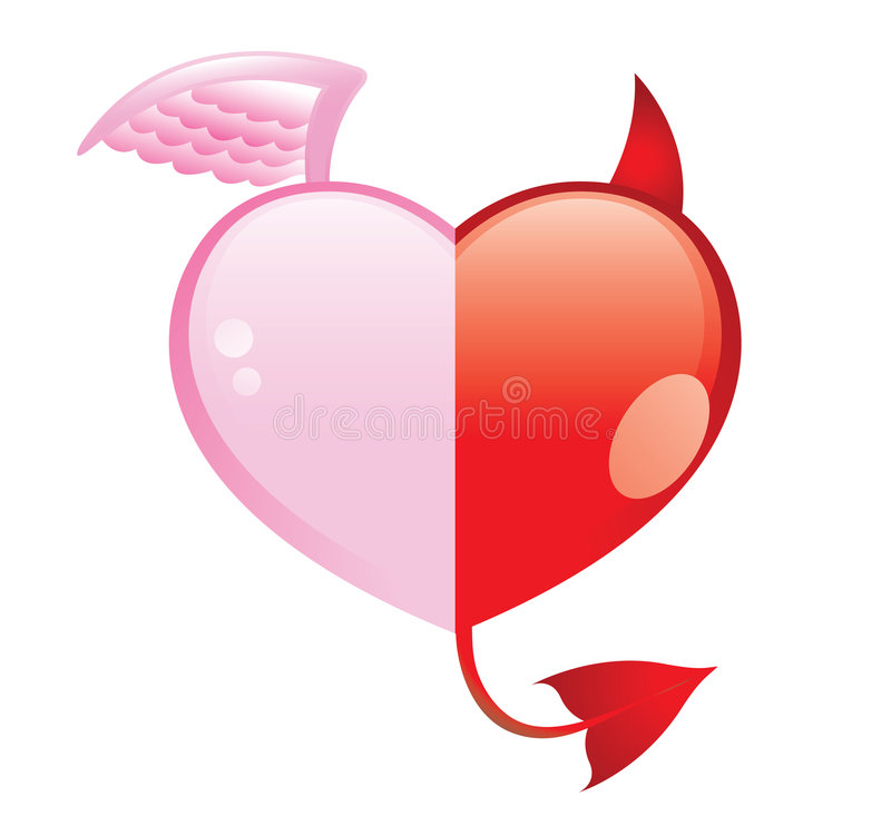 Download Love... good and evil stock vector. Illustration of holiday - 3946962