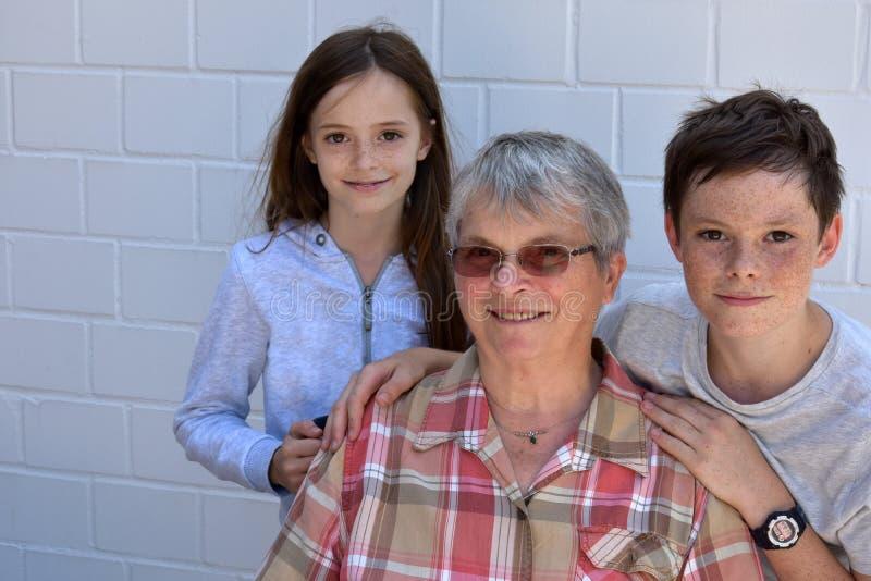 We love grandma stock photography