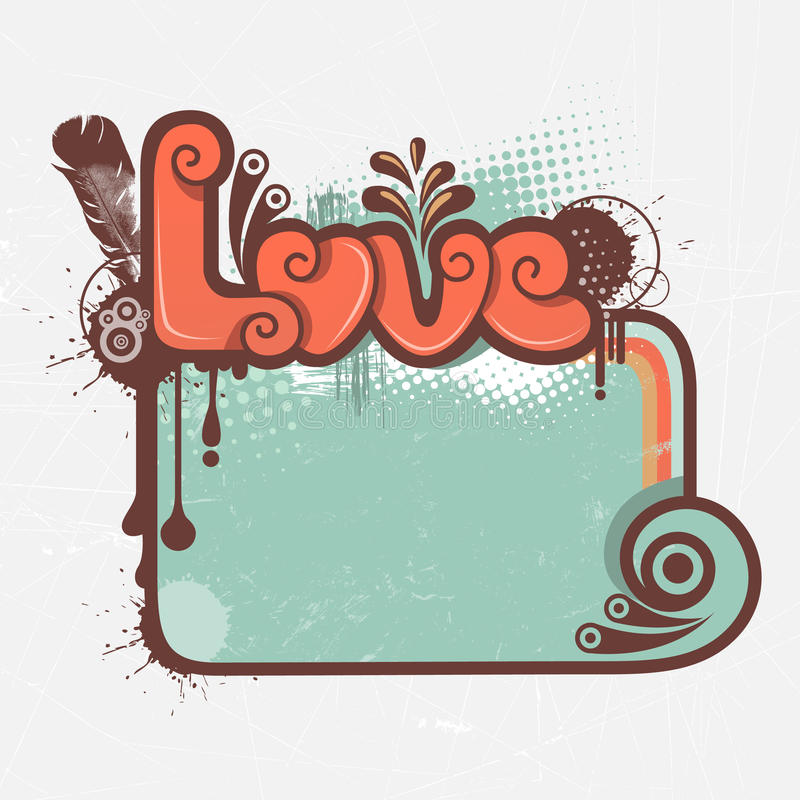Love Graphic And Frame Stock Photos
