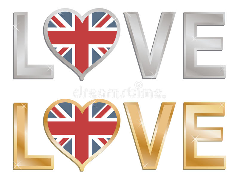 Love Great Britain Royalty Free Stock Photography
