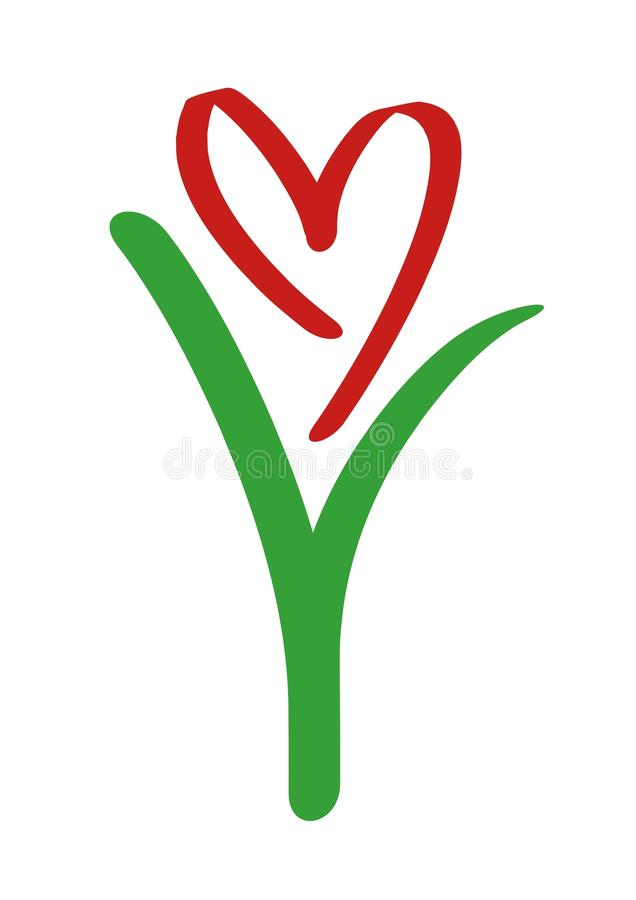 Love grows vector illustration