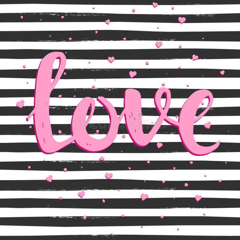 Love. Hand drawn typography poster. vector illustration