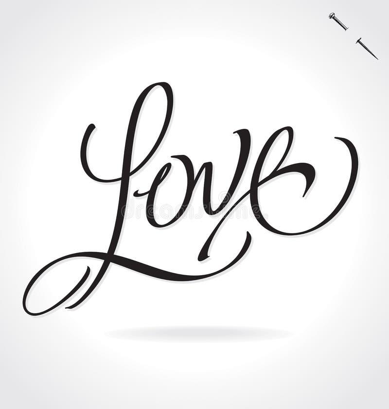 Love hand lettering vector stock illustration