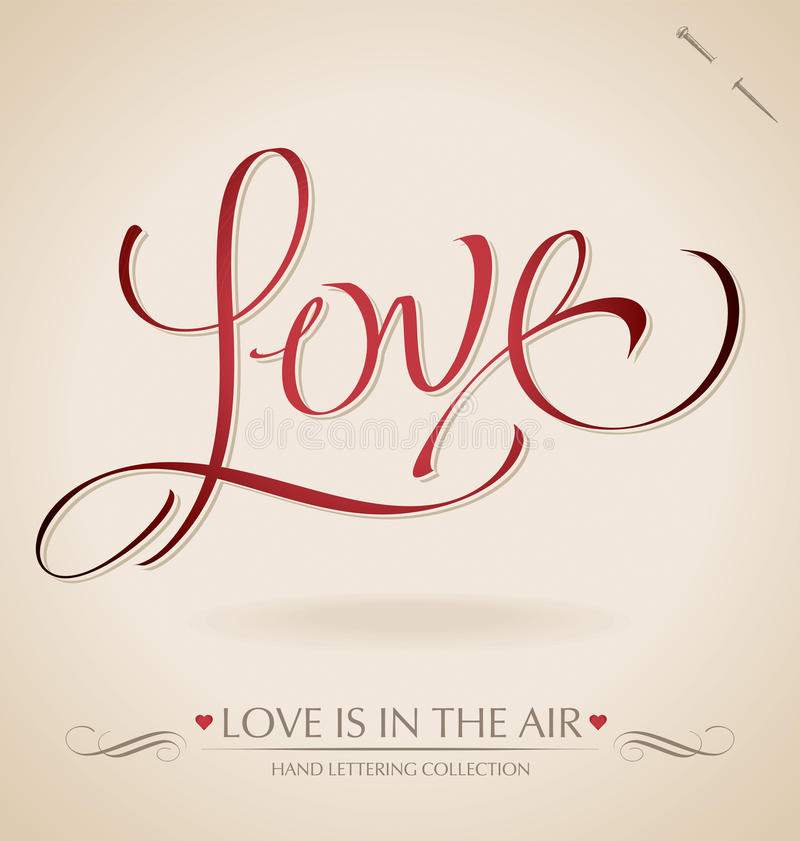 Love hand lettering (vector) royalty free stock photo