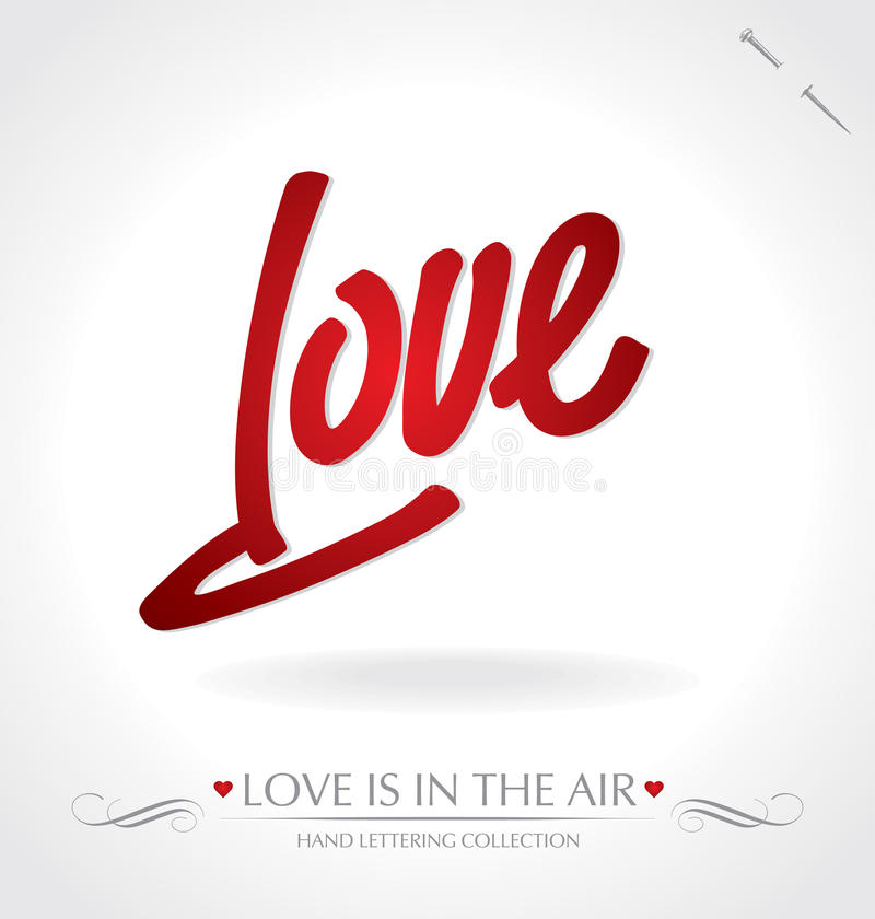 Love hand lettering (vector) royalty free stock photos